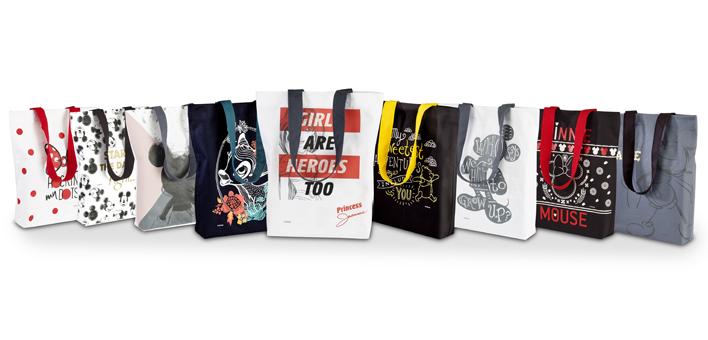 Bawełniane, wytrzymałe torby z bohaterami Disneya